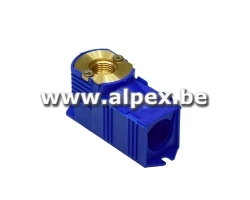 Boîte à Encastrer bleu 1/2F x 16