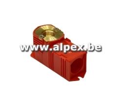Boîte à Encastrer rouge 1/2F x 16