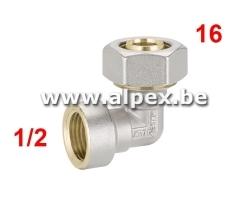 Coude Femelle Alpex 16 x 1/2F