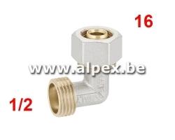 Coude Mâle Alpex 16 x 1/2M