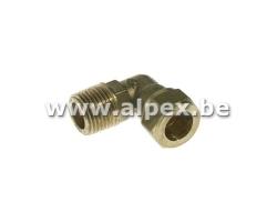 Coude Mâle bicône en laiton - EAU - 1/2M x 15
