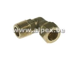 Coude Mâle bicône en laiton - EAU - 1/2M x 18