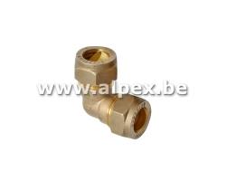 Coude bicône en laiton - EAU - 15 x 15