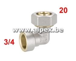 Coude Femelle Alpex 20 x 3/4F