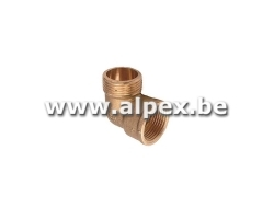 Coude 3/8M x  3/8F - Laiton