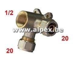 Culasse Double V Alpex 20 x 1/2F x 20