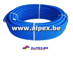 Tuyau Alpex gainé  50m 16 x 2.0 bleu