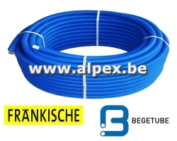 Tuyau Alpex gainé FRANKISCHE   BEGETUBE 50m 16x2.0  bleu