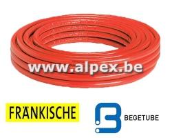 Tuyau Alpex  isolé FRANKISCHE   BEGETUBE   50 m 16 x 2.0  rouge