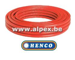 Tuyau Alpex  isolé   HENCO   100 m 16x2.0 rouge
