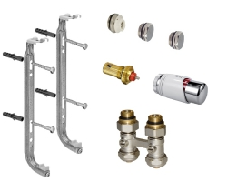 Kit complet droit tête thermostatique blanc chrome