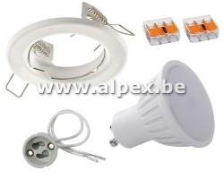 Kit Spot LED 4w  Fix Blanc