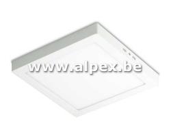 Plafonnier LED Apparant carre 18W