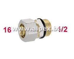 Raccord Mâle O-ring 16 x 1/2M