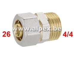 """Raccord Mâle Alpex 1""""x26"""