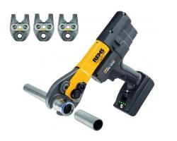 REMS Mini-Press 22 VACC Li-Ion Basic-Pack + 3 pinces à sertir Mini