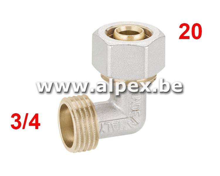 Coude Mâle Alpex 20 x 3/4M