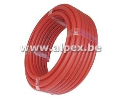 Tuyau Alpex  isolé 32x3.0  rouge 25 m