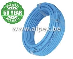Tuyau Alpex  isolé 16x2.0  bleu  50 m