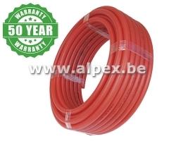 Tuyau Alpex  isolé      50 m 16x2.0  rouge