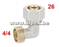 Coude Mâle Alpex 26 x 4/4M