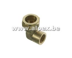 Coude Femelle bicône en laiton - EAU - 1/2F x 15