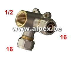 Culasse Double V Alpex 16 x 1/2f x16