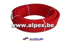 Tuyau Alpex gainé 16x2.0 rouge 50 m