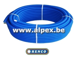 Tuyau Alpex gainé  HENCO  25 m 16 x 2.0  bleu