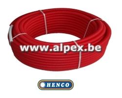 Tuyau Alpex gainé  HENCO  25 m 16 x 2.0 rouge