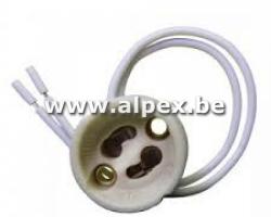 GU10 Socket.  Ceramic. Fil 25 cm