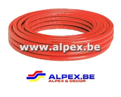 Tuyau Alpex   isolé 16x2.0 rouge 50 m