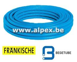 Tuyau Alpex  isolé FRANKISCHE   BEGETUBE   50 m 16 x 2.0  bleu