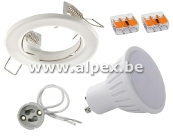 Kit Spot LED 4w  Fix Blanc