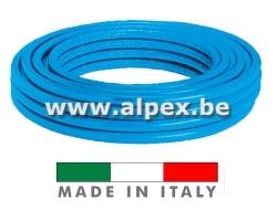 Tuyau Alpex  isolé      50 m 16x2.0  bleu