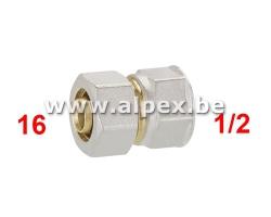 Raccord Femelle Alpex 16 x 1/2 F