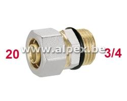 Raccord Mâle O-Ring 20 x 3/4 M