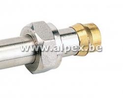 Raccord à compression pour les tube de liaison, cuivre,acier galvanisé   15 x 2mm