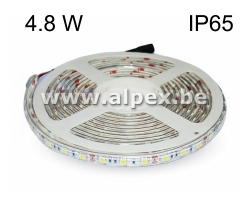 LED Strip 4.8w/m  12V  3000K  Ip65