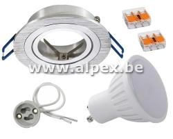 Kit Spot LED 4w ALU Orientable