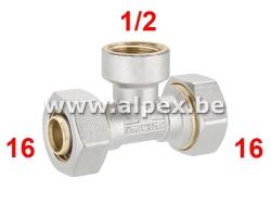 Té Femelle Alpex 16x1/2Fx16
