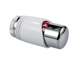 Tête thermostatique blanc chrome design